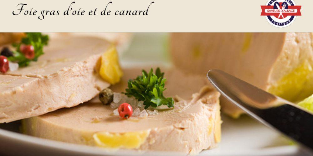 Foie gras d'oie et de canard