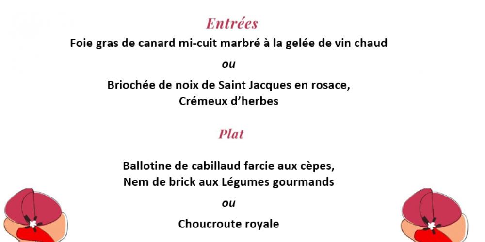 Notre menu spécial Saint Valentin